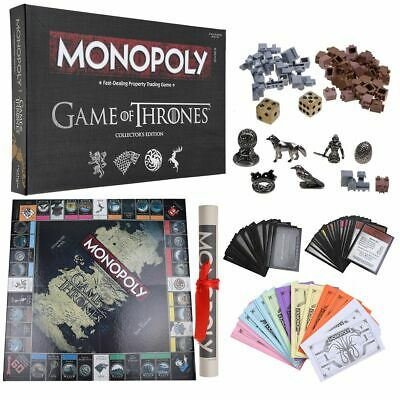 Monopoly Game of Thrones Board Game Deluxe Collector's Edition 2-6 Players 8+