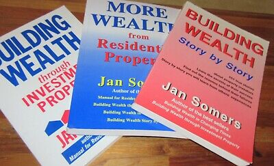 THREE Jan Somers Property Investment books. All sc  Building Wealth  NEW in MELB