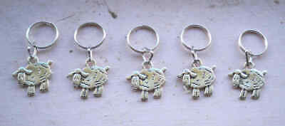 Stitch Markers with Sheep Charms set of 5