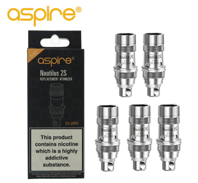 Aspire Nautilus 2S Replacement Coil Head (5-Pack) 0.4ohm
