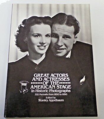 GREAT ACTORS AND ACTRESSES OF THE AMERICAN STAGE Hardcover Book HTF