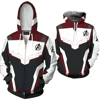 Avengers Endgame Quantum Realm Sweatshirt Jacket Advanced Tech Hoodie Cosplay AU