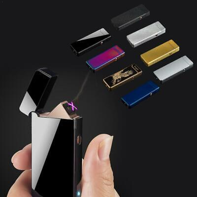 Double Arc Electric Lighter USB Rechargeable Windproof Flameless Cigar Lighter