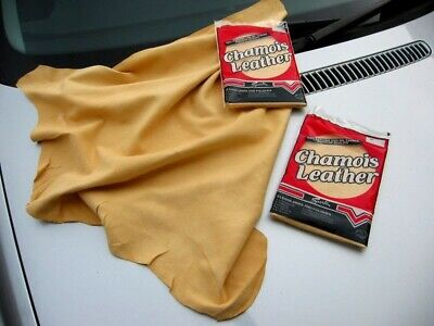 Genuine Real Leather Chamois Oil Tanned Cloth Chammy Car Drying & Cleaning