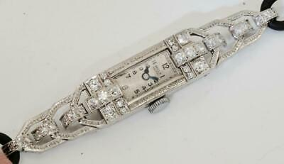 Amazing antique Art-Deco Platinum&Diamonds Bella,Geneve ladies wristwatch c1920