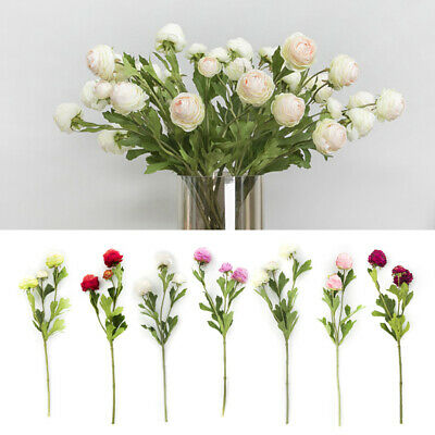1 Bouquet Artificial Silk Flowers Real Touch Fake Flowers Home Party Vase Supply