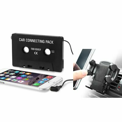 Cassette Adapter+Car Air Vent Phone Holder Mount For iphone 7 5 5G 5th 3GS 3rd