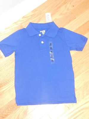 NWT - Childrens Place short sleeved bright blue polo shirt - 4T boys