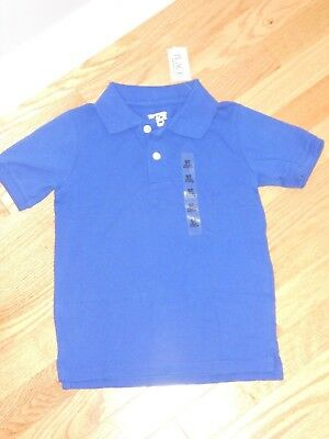 NWT - Childrens Place short sleeved bright blue polo shirt - 18-24 mos boys