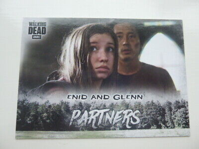 Walking Dead Hunters&The Hunted Partners P-10 Chase Card Walmart Exclusive Enid+