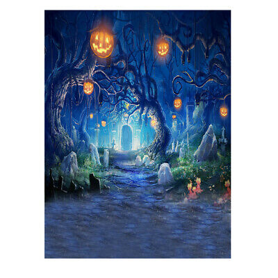 2m Digital Printing Hallowmas Studio Photography Backdrop Background Prop T4F3