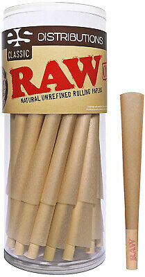RAW Cones Classic King Size | 50 Pack | Natural Pre Rolled Rolling Paper With