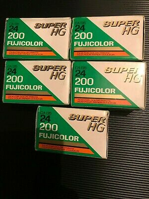5 x Fujifilm Super HG 200  35mm expired film job lot kodak lomo agfa 3M