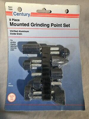 Century 8 Pc Mounted Grinding Point Set Made In USA 75200