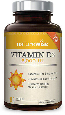 NatureWise Vitamin D3 5,000 IU For Healthy Muscle Function, Bone Health And In
