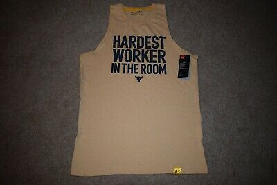 249bb6273 Under Armour Mens Project Rock Hardest Worker Tank Top 5816 Size M (Noble)  NWT
