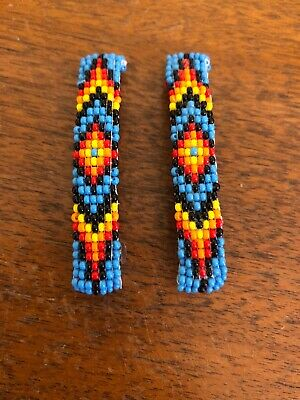 Navajo Indian Jewelry Hand Beaded Hair Clip Barrette by Lucille Ramone Nice #11