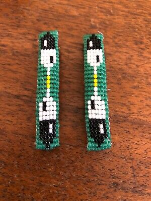 Navajo Indian Jewelry Hand Beaded Hair Clip Barrette by Lucille Ramone Nice #25