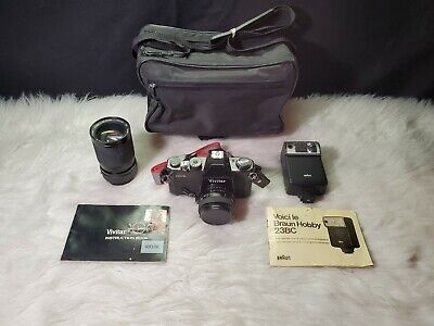 Vivitar 420/SL 35mm Film Camera with 50mm Lens + 28-85mm Lens, Bundle