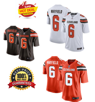 32ddfef99 CLEVELAND BROWNS COLOR Rush Jersey Baker Mayfield  6 NFL white XXL ...