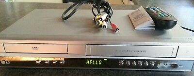 LG V271 VCR Video Cassette Recorder VHS 6 head Hi-Fi stereo RCA DVD not working