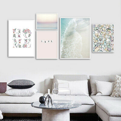 Seascape Poster Coastal Beach Sunset Wall Art Canvas Print Decorative Picture