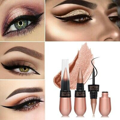 Dual-ended Professional Eye Shadow Cream Eye Liner Eyeliner Pen Pencil Makeup