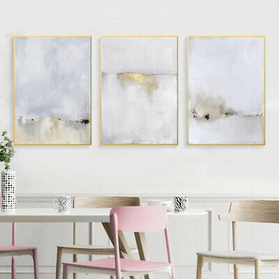 Watercolor Abstract Canvas Poster Scandinavian Wall Art Print Nordic Decoration