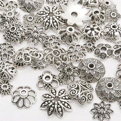 Wholesale Tibetan Silver Spacer Beads Metal Findings Craft Making End Caps Sy