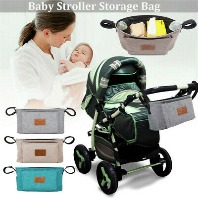 Portable Baby Storage Bag Pushchair Stroller Pram Organizer Bottle Diaper Holder