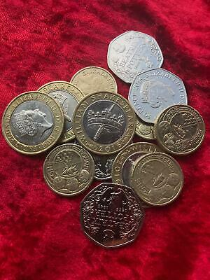 50p coins 2016 Beatrix Potter Jemima Puddleduck etc - Coin Hunt - Change Checker