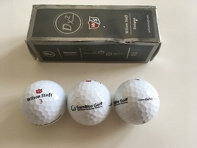 Pack 3 bolas golf Wilson Staff Distance DX2 especial Gambito Golf