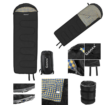 Adult Single Double Camping Sleeping Compression Bag Cotton Lined Liner 3 Season