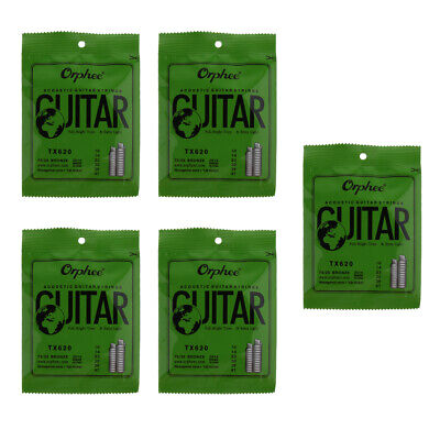 6pcs TX620 Guitar String Good Sound for Acoustic Folk Guitar Replacements