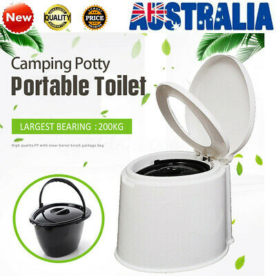AU 6L Portable Outdoor/Indoor Toilet Seat Caravan Travel Camping Potty Commode