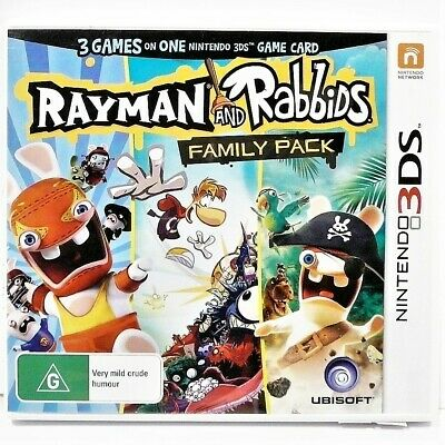 """Rayman And Rabbids Family Pack 3Ds Game """"Vgc"""" Auz Seller"""