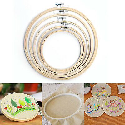 Wooden Budget Wooden Bamboo Embroidery Cross Stitch Ring Hoop 15/17/21/24/27cm .