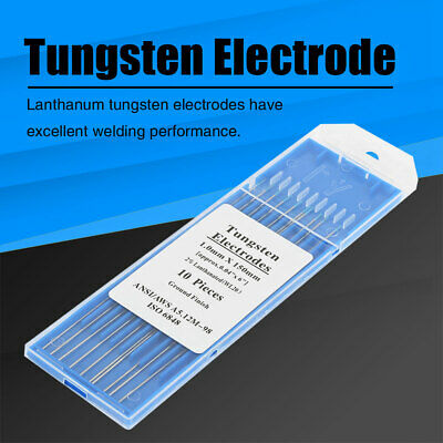 10PCS TIG Welding Tungsten Electrode 2% Thoriated 1.0-3.2mm 150mm/175mm HighQ