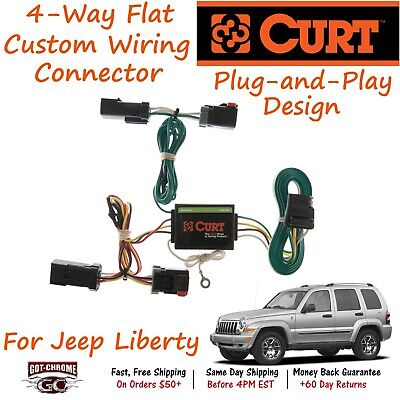 trailer hitch tow wiring for 20022007 jeep liberty 4 way custom plug  jeep liberty trailer hitch wiring #15