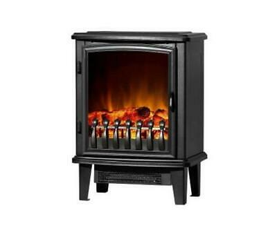 Portable Freestanding Indoor Electric Fireplace Heater Fire Log Wood Effect