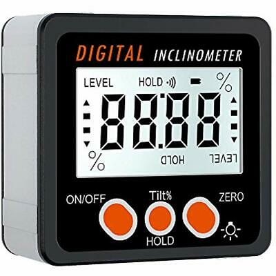 Angle Finder Bevel Gauge Digital Inclinometer Backlight LCD Level Box 0-360 With