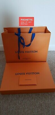 Louis vuitton (3) large pouch sized Empty Box And Carrier Bag Set L41/W29/D5cm