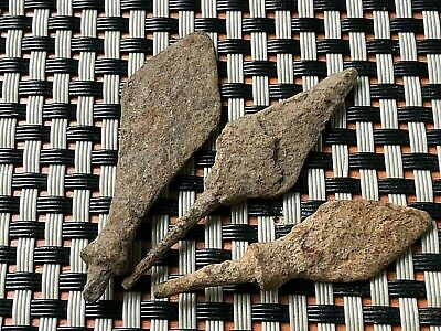 LOT OF 3 ANCIENT ROMAN IRON ARROWHEADS 3rd-5th CENTURY AD.