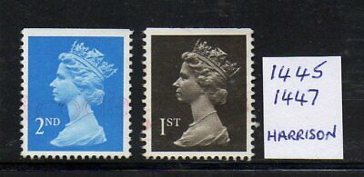 SG 1445/1447 2nd/1st Class Booklet Machin Pair 1989 - Fine Used
