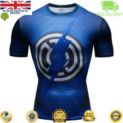 Compression gym top superhero avengers marvel muscle The Flash BJJ MMA Crossfit