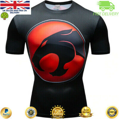 Compression gym top superhero avengers marvel muscle Black Panther MMA Crossfit