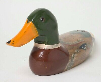 Hand Carved Painted Wooden Wood Mallard Duck Decoy