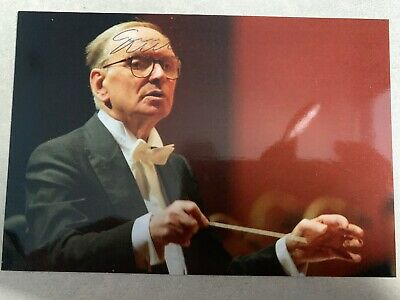 Ennio Morricone Signed Autographed Photo