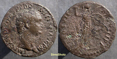Ancient Roman Coin - Bronze As of Domitian - Minerva Reverse