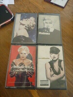 Madonna Cassette 4 Tape True Blue Immaculate Collection Bedtime Stories S/T
